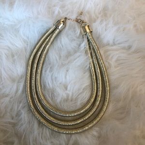 Kim K Inspired Gold Necklace. NWOT